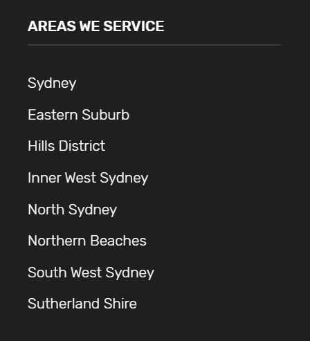 Service Pages for local SEO